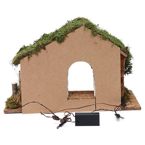 Cabane avec palissade en bois 40x30x20 cm 4