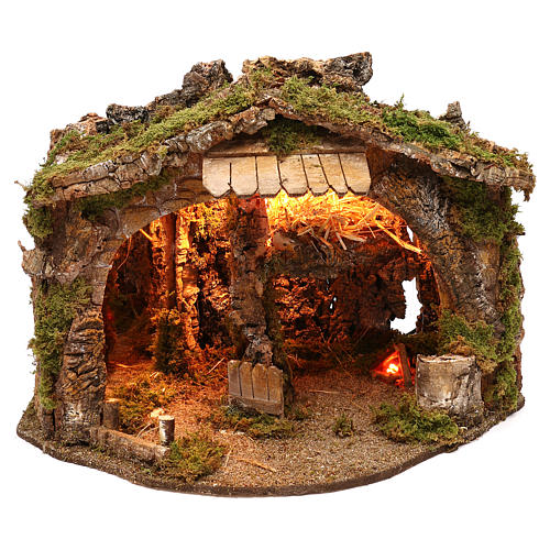 Grotte avec miroir effet profondeur 35x55x35 cm 1
