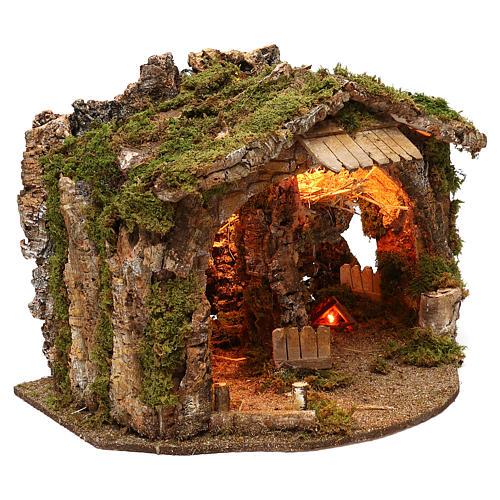 Grotte avec miroir effet profondeur 35x55x35 cm 3