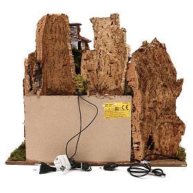 Pueblo con natividad Moranduzzo y efecto profundidad 50x60x30 cm s4