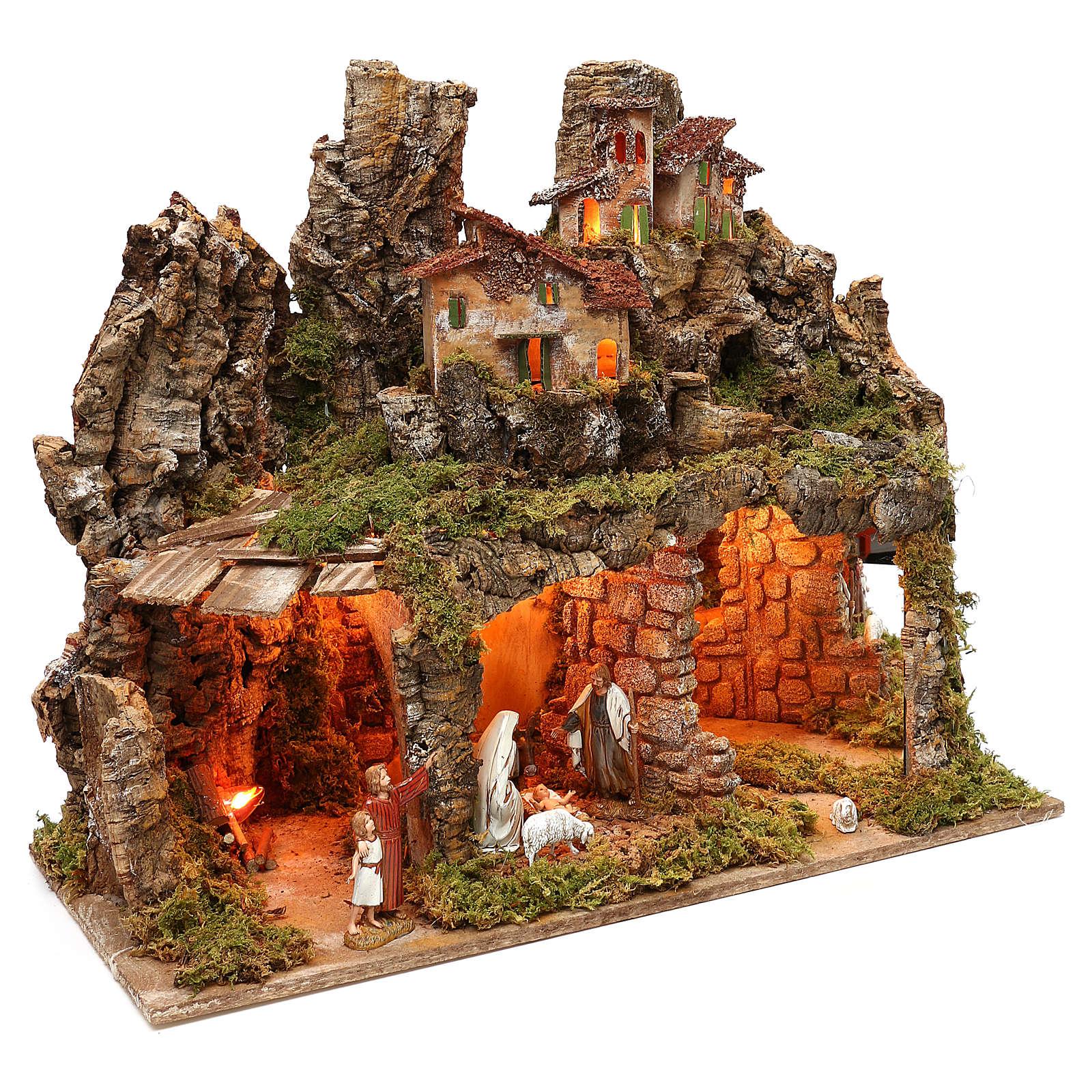 Borgo con natività Moranduzzo ed effetto profondità 50x60x30 cm 4