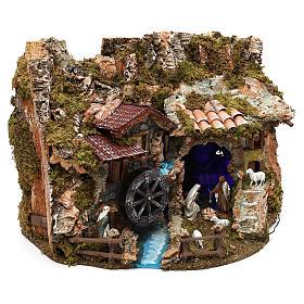 Paisaje con estatuas y molino de agua 40x55x40 cm Moranduzzo s3