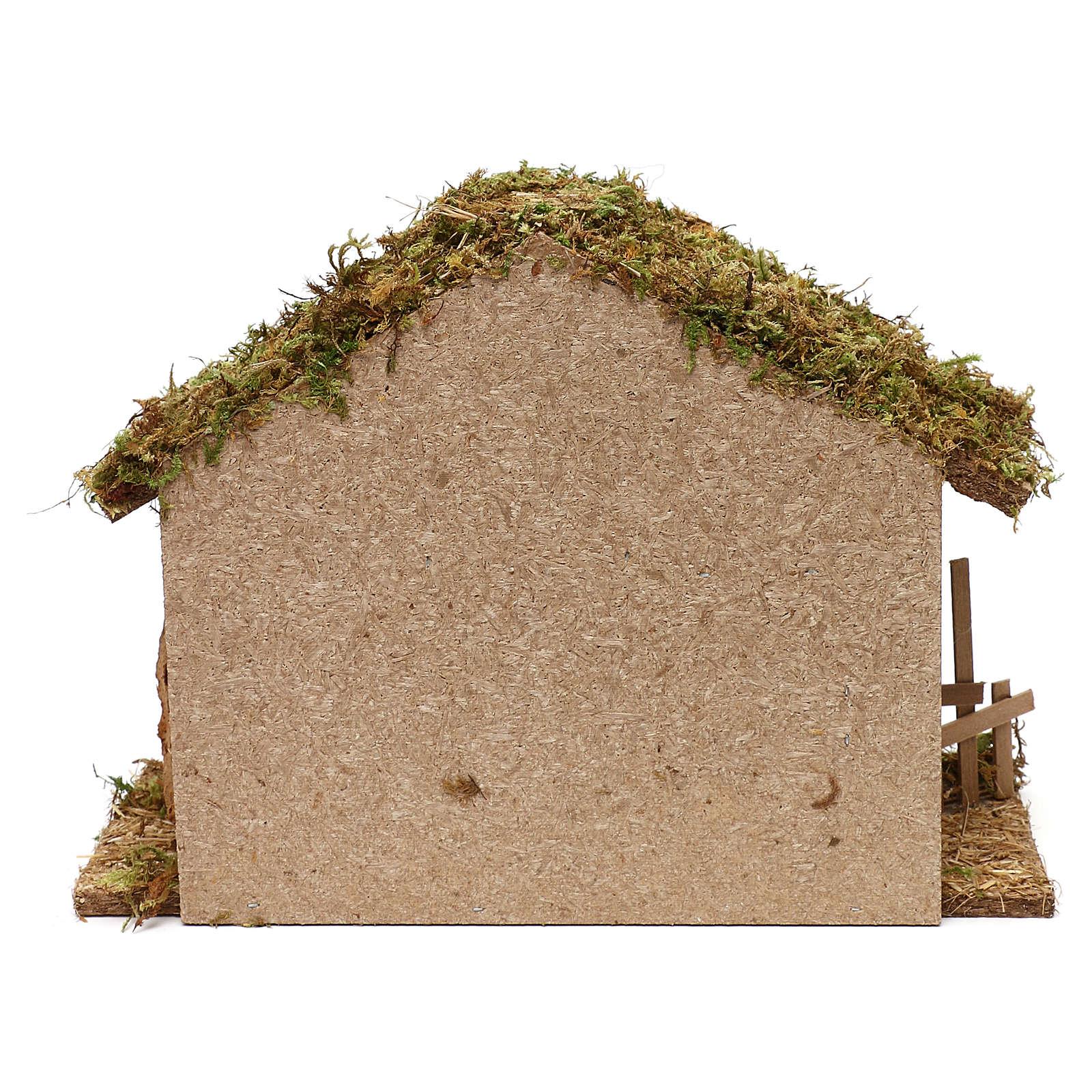 Cabane pour crèche en bois et liège 25x35x15 cm 4