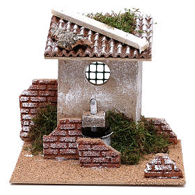 Fountain for Nativity scene for 8 cm figurines s1