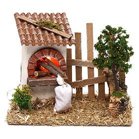 Oven for Nativity scene with fence for 8/10 cm figurines s1