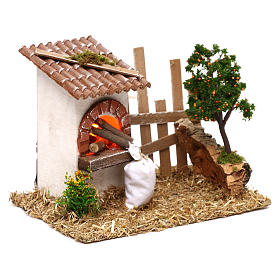 Oven for Nativity scene with fence for 8/10 cm figurines s3