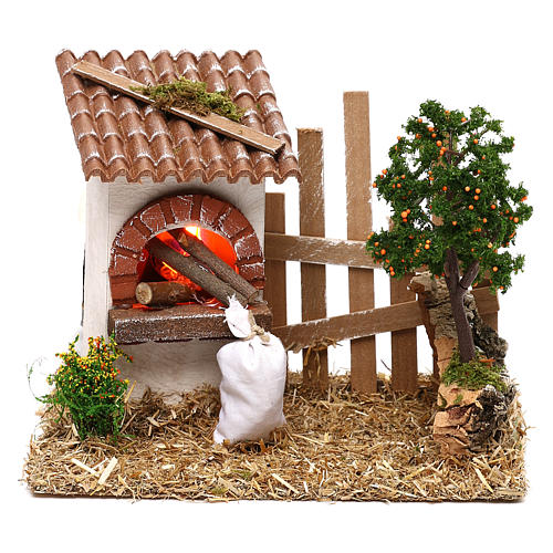 Oven for Nativity scene with fence for 8/10 cm figurines 1