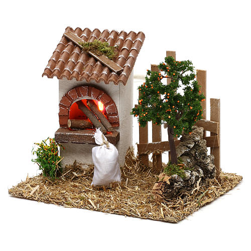 Oven for Nativity scene with fence for 8/10 cm figurines 2