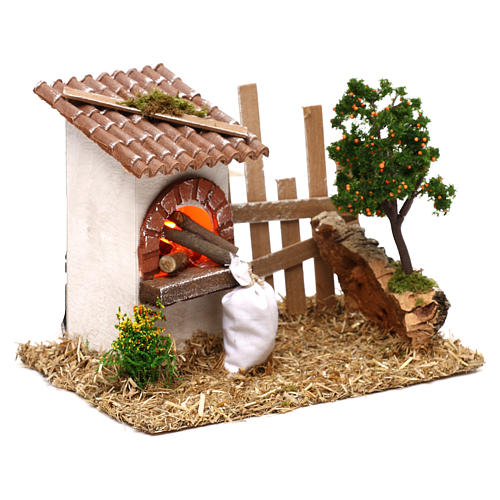 Oven for Nativity scene with fence for 8/10 cm figurines 3