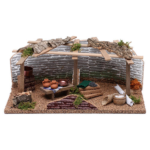 Market with various items for Nativity scene 10 cm 1
