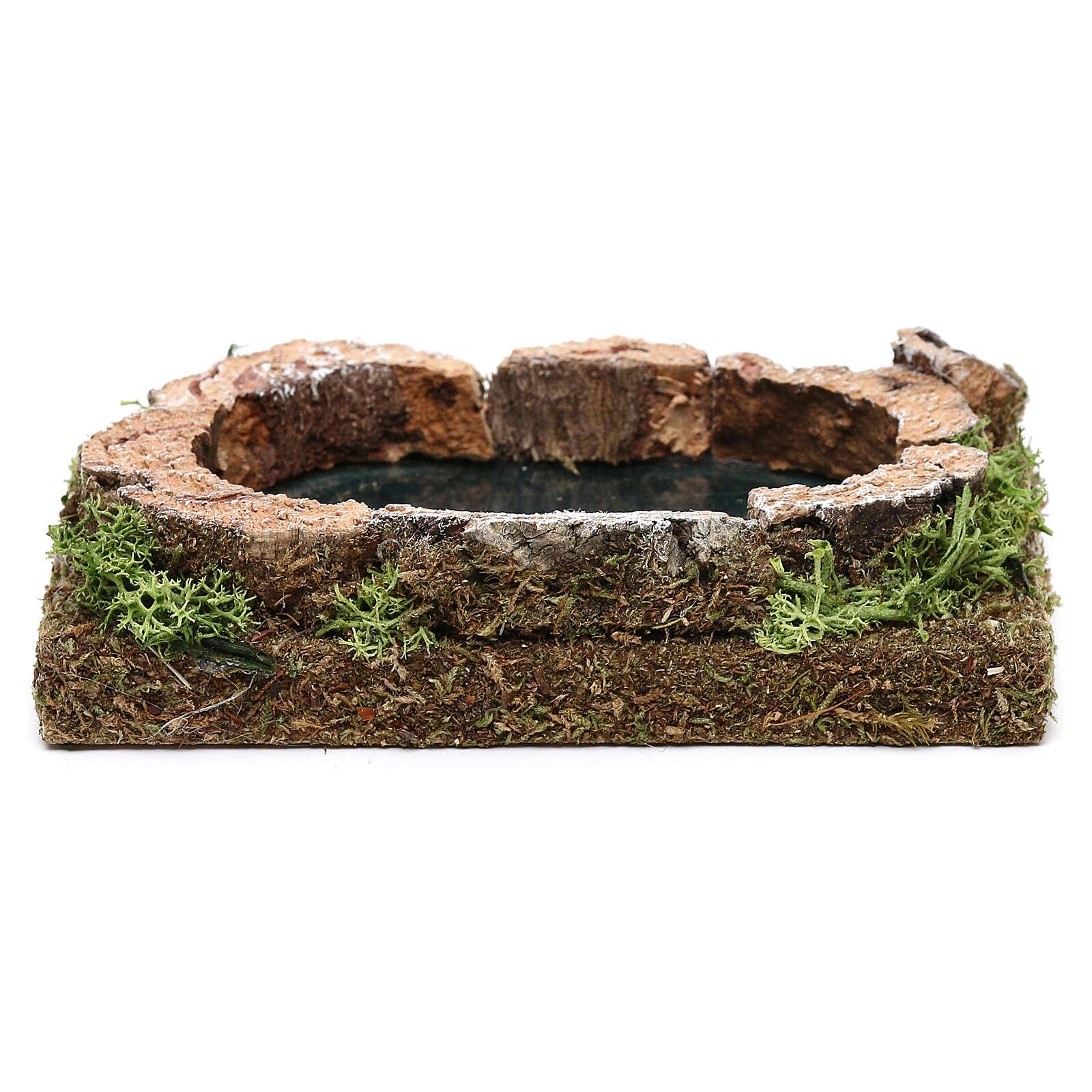 Miniature pond for nativity, in cork 3x15x10 cm 4