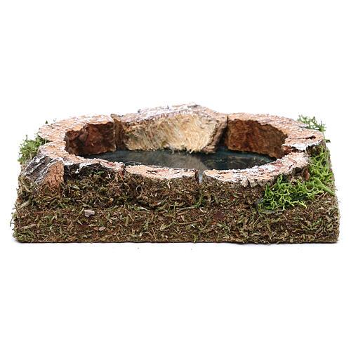 Miniature pond for nativity, in cork 3x15x10 cm 1