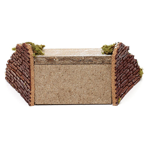 Miniature wooden staircase with moss for nativity, 5x20x15 cm 4