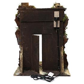 Templo de mampostería iluminación belén 10 cm 50x40x30 cm s4