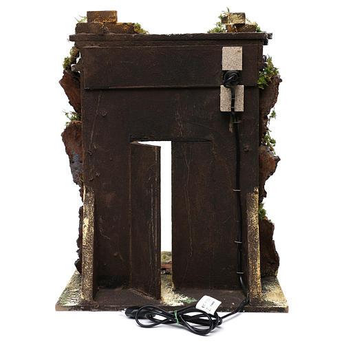 Templo de mampostería iluminación belén 10 cm 50x40x30 cm 4