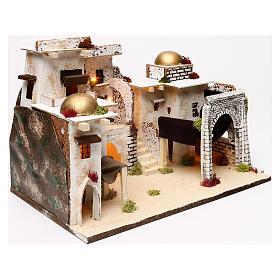 Arabic style illuminated landscape 30x45x30 cm for Nativity scenes of 7 cm s2