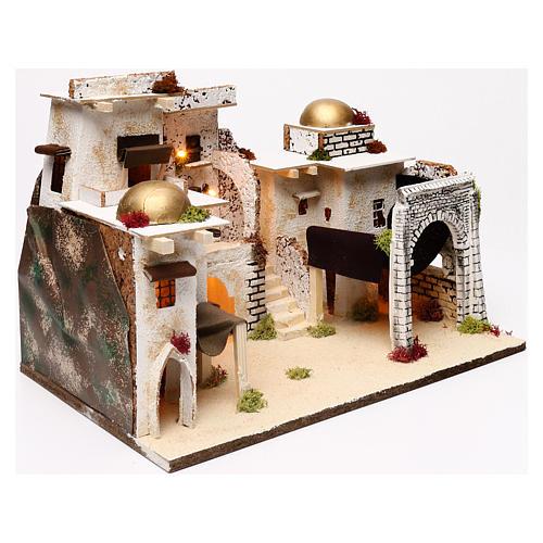 Arabic style illuminated landscape 30x45x30 cm for Nativity scenes of 7 cm 2