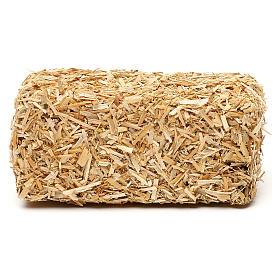Paca de heno rectangular 4x10x5 cm para belenes de 19 cm s1