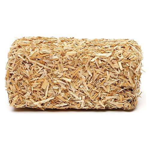 Paca de heno rectangular 4x10x5 cm para belenes de 19 cm 1