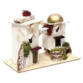 Arabic-style houses with arch 20x30x15 cm for Nativity scenes of 6 cm s2