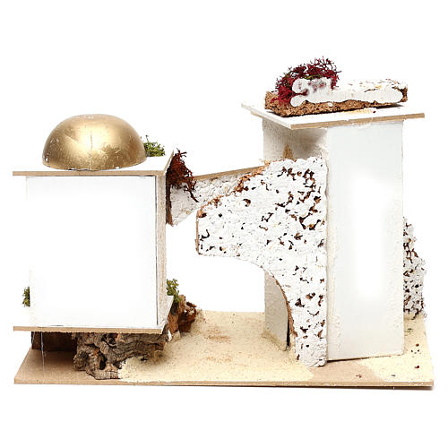 Arabic-style houses with arch 20x30x15 cm for Nativity scenes of 6 cm 4