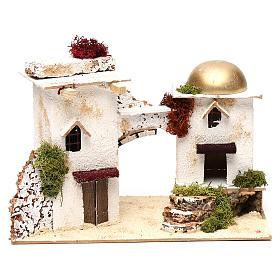 Ambientações para Presépio: lojas, casas, poços: Casas estilo árabe com arco 20x30x15 cm para presépio com figuras de 6 cm de altura média