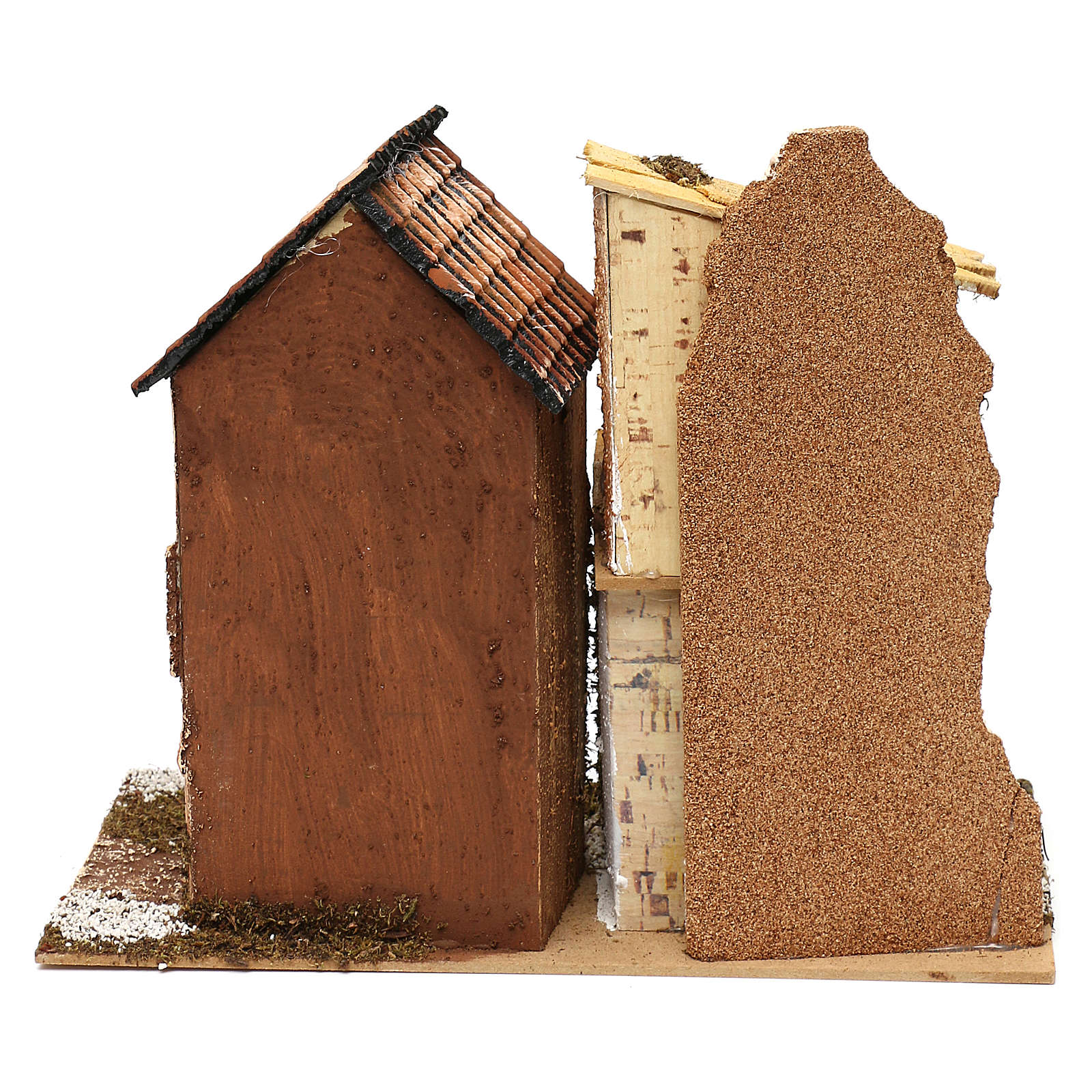 Village with houses and stable 25x30x15 cm for Nativity scenes of 6 cm 4