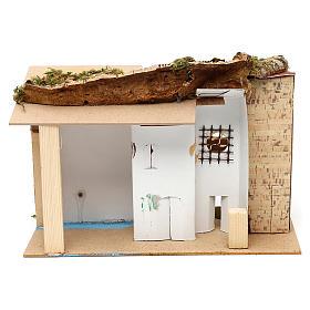 Borgo con mulino e stalla 25x30x20 cm per presepi di 6 cm s4