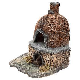 Horno con efecto llama de resina 15x15x10 cm belén Nápoles 10 cm s2