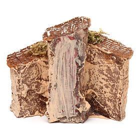 Casita de resina con torre 5x5x5 cm belén napolitano 3-4 cm s8