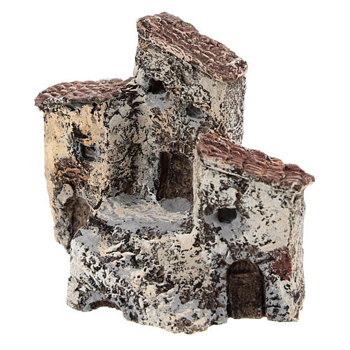 Pueblo antiguo 10x10x5 cm belén napolitano de 3-4 cm 2