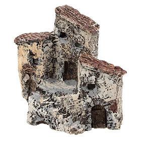 Ancienne bourgade 10x10x5 cm crèche napolitaine 3-4 cm s2