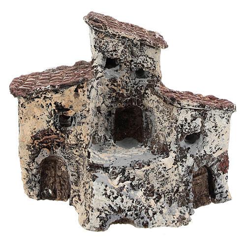 Ancienne bourgade 10x10x5 cm crèche napolitaine 3-4 cm 1