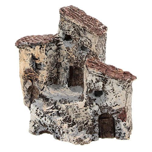 Ancienne bourgade 10x10x5 cm crèche napolitaine 3-4 cm 2