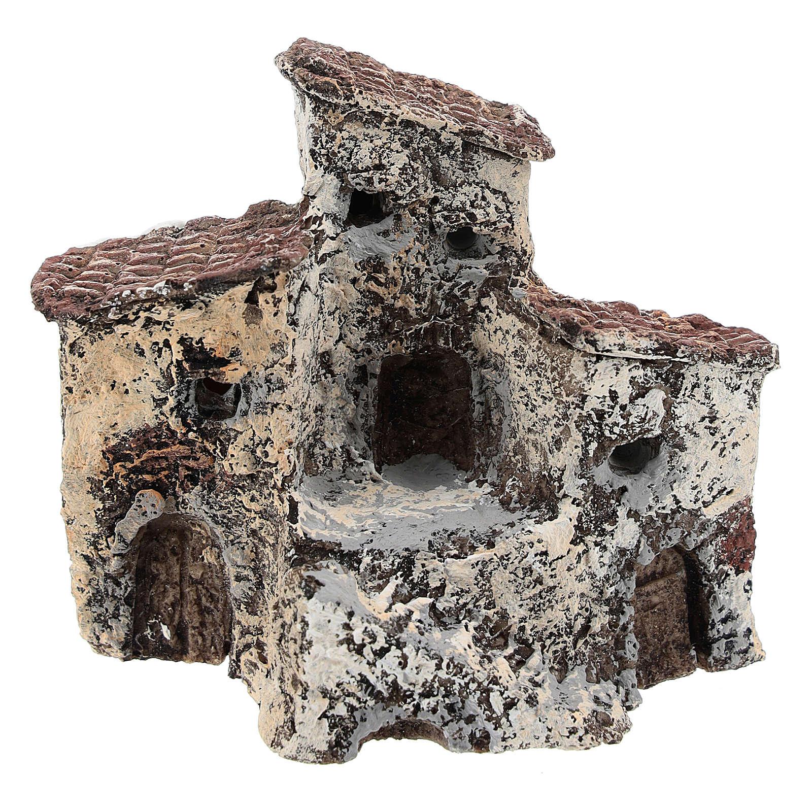 Borgo antico 10x10x5 cm presepe napoletano di 3-4 cm 4