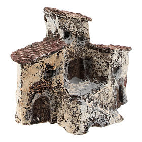 Borgo antico 10x10x5 cm presepe napoletano di 3-4 cm s4