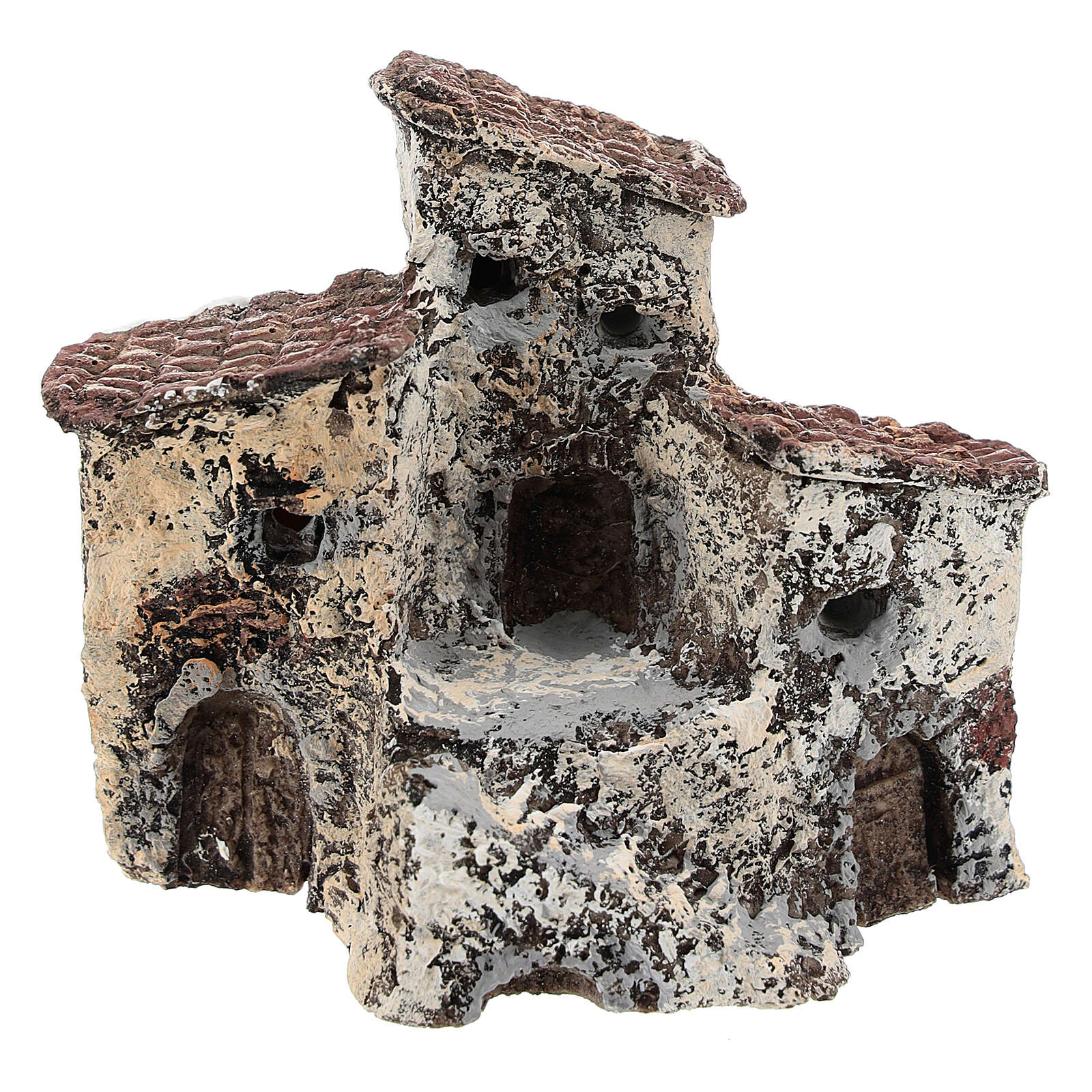 Antique village 10x10x5 cm, Neapolitan nativity 3-4 cm 4