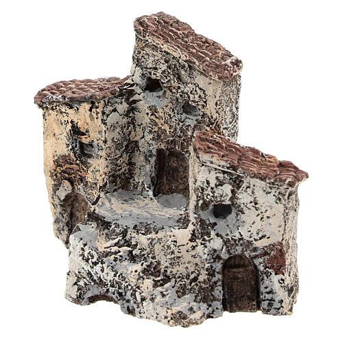 Antique village 10x10x5 cm, Neapolitan nativity 3-4 cm 2