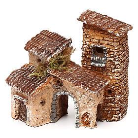 Borgo con arcata 10x10x10 cm presepe napoletano 3-4 cm  s2
