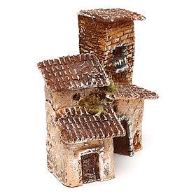 Borgo con arcata 10x10x10 cm presepe napoletano 3-4 cm  s3