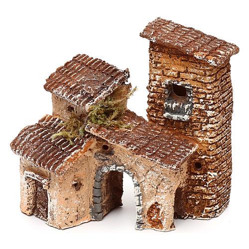 Borgo con arcata 10x10x10 cm presepe napoletano 3-4 cm  2