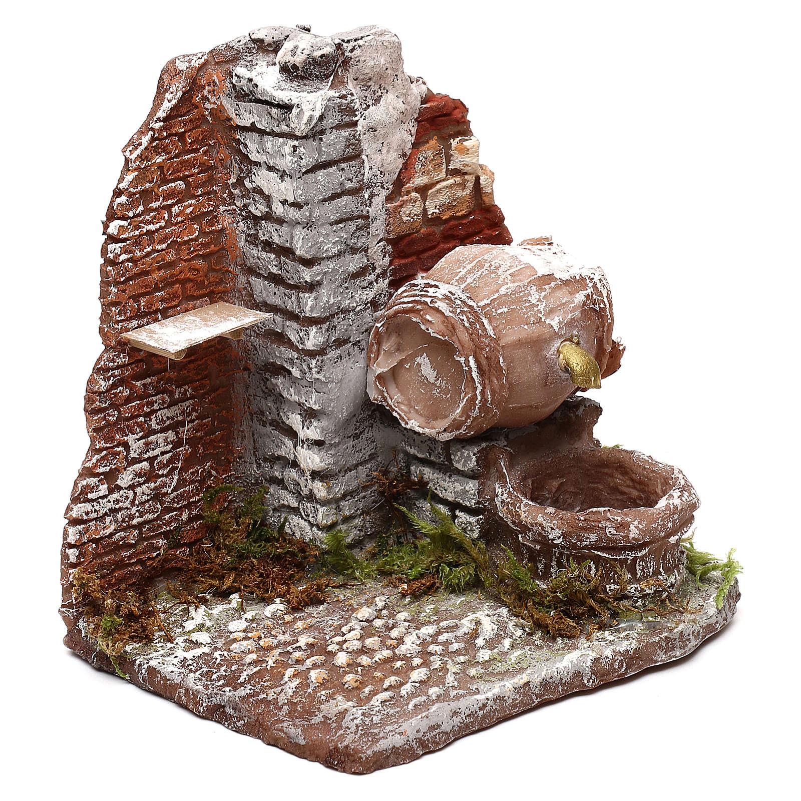 Fuente que funciona con barril 10x10x15 cm belén Nápoles 10 cm 4