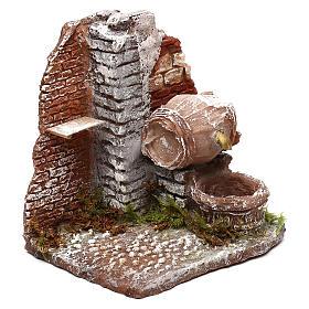 Fontanella funzionante ricavata da botte 10x10x15 cm presepe Napoli 10 cm s3