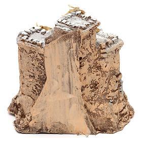 Castello in resina 10x10x10 cm presepe napoletano 4 cm s4