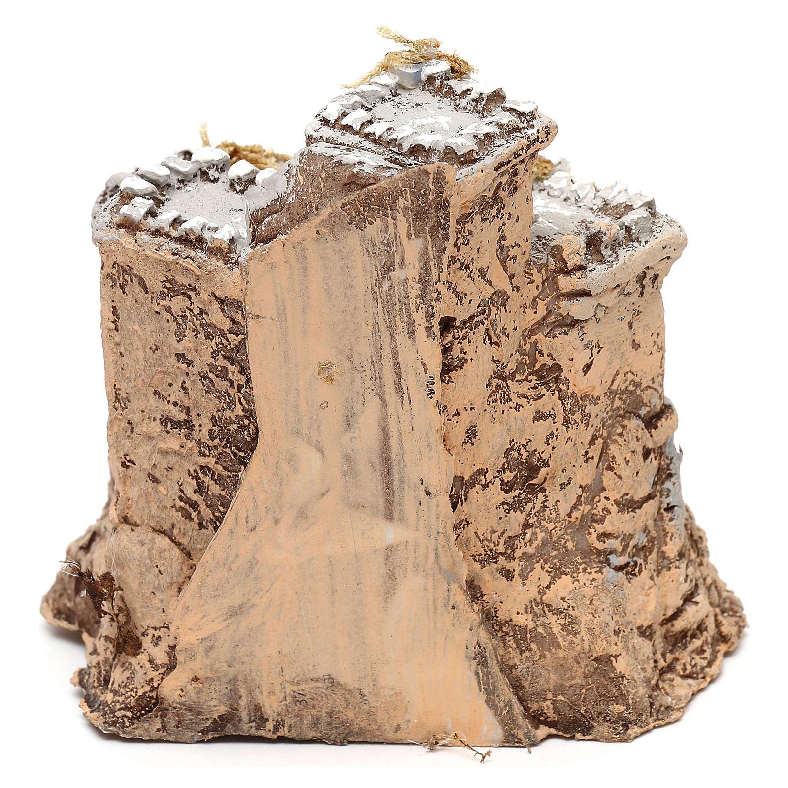 Castelo em resina 10x10x10 cm para presépio napolitano com figuras de 4 cm de altura média 4
