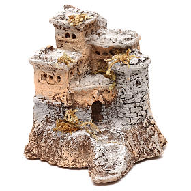Castelo em resina 10x10x10 cm para presépio napolitano com figuras de 4 cm de altura média s1