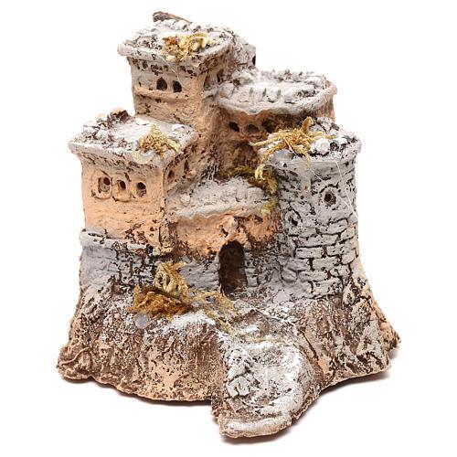 Castelo em resina 10x10x10 cm para presépio napolitano com figuras de 4 cm de altura média 1