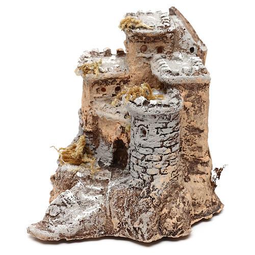 Castelo em resina 10x10x10 cm para presépio napolitano com figuras de 4 cm de altura média 2