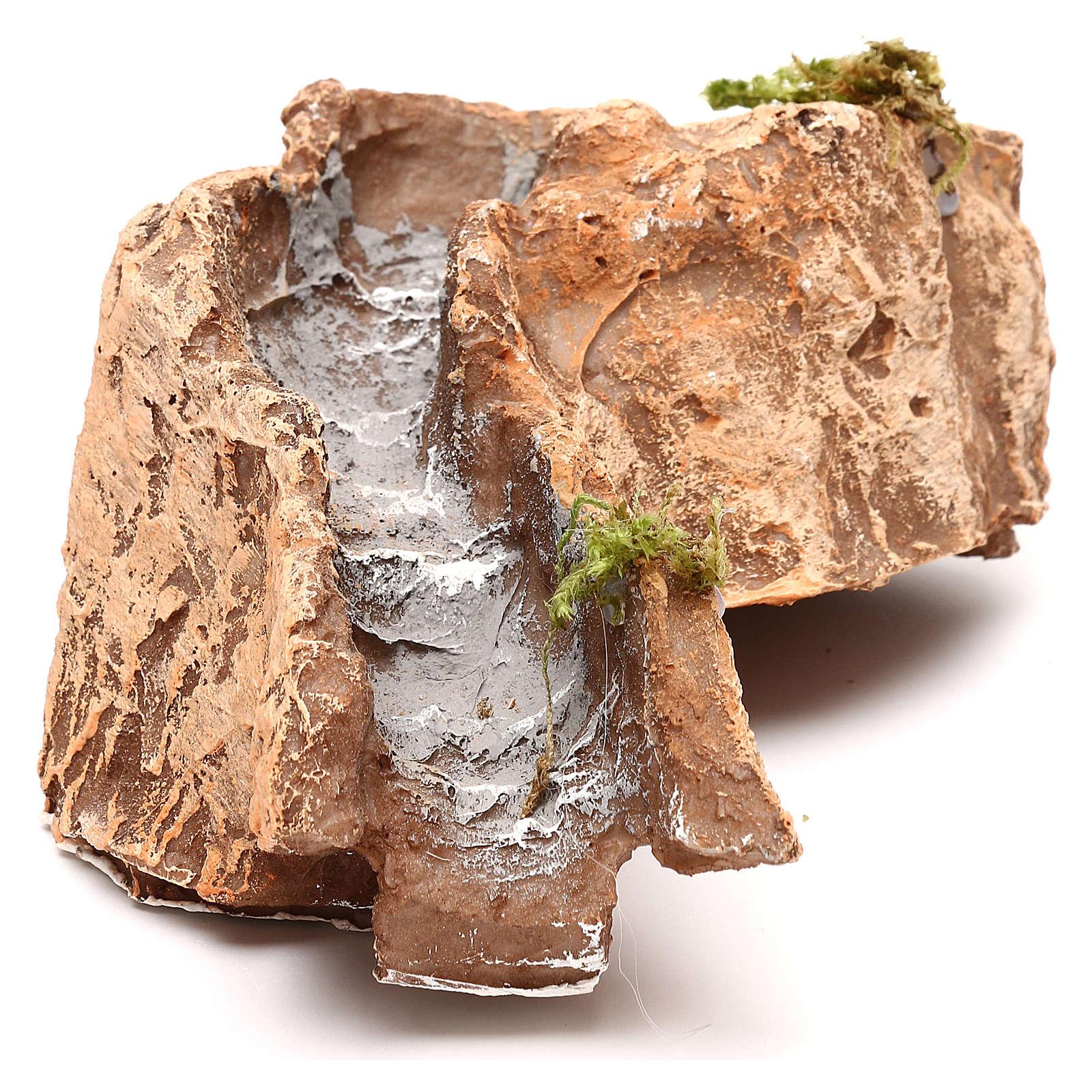 Ruscello resina componibile curva sinistra 5x15x20 cm presepe Napoli 4-6-8 cm 4