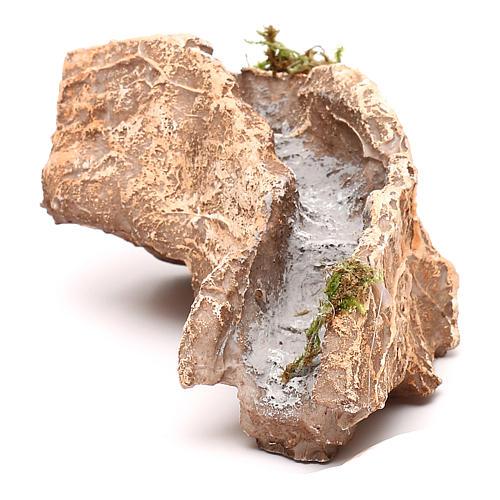 Ruscello resina componibile curva destra 5x10x15 cm presepe Napoli 4-6-8 cm 1